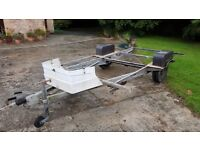 Braked Alko chassis from a hard top camper - perfect for motocross/quad bike etc
