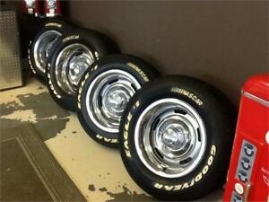 4- 15x8 CORVETTE RALLYES WITH GOODYEAR TIRES $1000