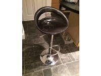 4 x black bar stools
