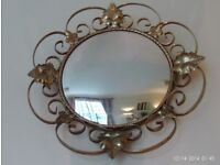 antique convex mirror 38 cm diameter
