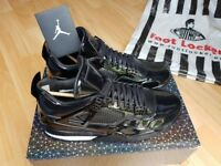 Nike Air Jordan 4 11Lab4 BLACK Patent Leather QS LIMITED RARE LIKE KAWS UK10 FOOTLK Receipt 100sales