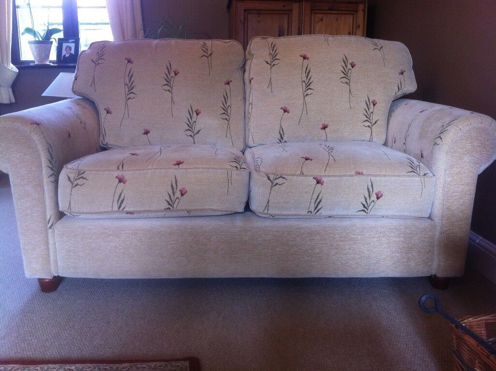 4 piece lounge furniture - sofas, armchair and footstool