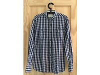 Nice navy check shirt. French connection size small
