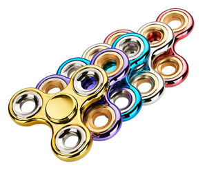 NEW - Fidget Spinner High Quality Metal - Asst Colours
