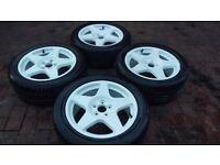 "16"" Compomotive MO5 Wheels ( 5x100 Rims Alloys MO BBS Rally Tarmac Bola Subaru Impreza )"