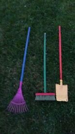 kids garden tools in very good condition