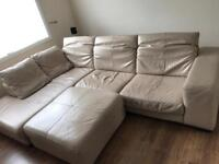 Cream right hand corner sofa
