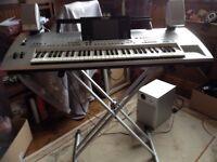 Yamaha tyros keyboard with stand