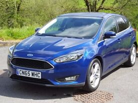 2015 65 Ford FOCUSZetec 1.5 TDCi, One Owner, Ford Warranty to 2018. Zero Tax, Bluetooth Music, Air..