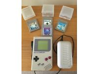 Classic Nintendo Game Boy and 4 Games - £50