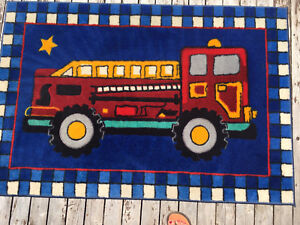 Fire truck area rug
