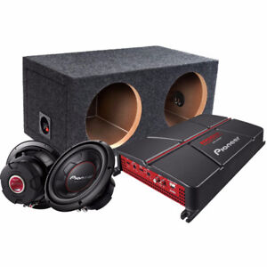 Pioneer Dual Sub with Enclosure and AMP Package + AMP KIT