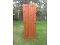 Solid wood door hinges and door knob