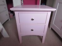 Pink Marks and Spencer Hastings bedside table