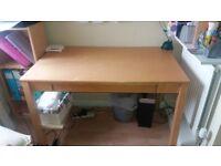 Ikea beech wood desk.