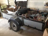 *Relisted* - Large folding trailer. Folds in half and can be stored upright. Great for easy storage.