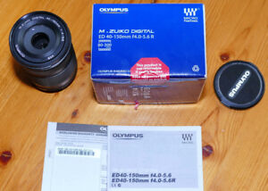 Olympus m4/3. 40-150mm F4.0-5.6 R Zoom Lens-Black Panasonic