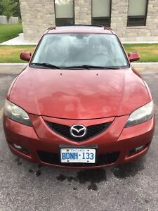 08 MAZDA3 158K, SAFTEY, ETEST, WINTERS,  ALLOYS, SUNROOF, FGLTS