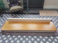 Solid oak step