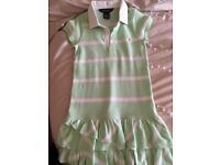 Ralph Lauren green striped dress age 4