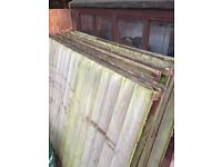 8 x 6 foot by 4 foot fence panels, well weathered and used