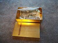 Luciano Barachini silver shoes size 39 GENUINE