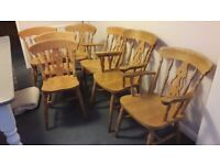Pine wood Dining Chairs (6-7) only 69.99