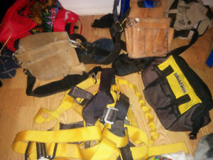 Harness, tool pouch, tool bag for sale.