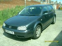 VW GOLF MUCH 1.6cc..2003..5 DOORS..FULL MOT