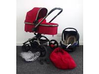 Mothercare Orb Red Berry Full Travel System