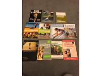 Running books - set of 11 books on running/marathons/nutrition