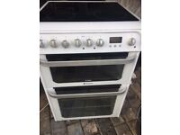 HOTPOINT ULTIMA FREE STANDING NEW MODEL 60cm ELECTRIC COOKER, 4 MONTHS WARRANTY