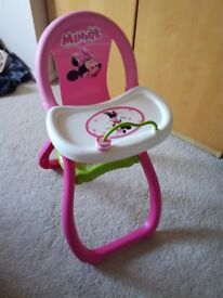 Minnie Mouse Dolls Highchair, good condition