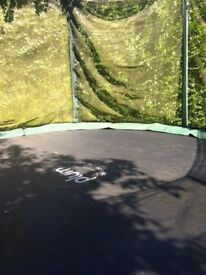 12ft Plum Trampoline with side net (slightly weathered)