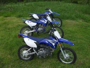 3 Yamaha TTR Dirt Bikes Plus Trailer