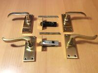 Brass door handles (2 sets)