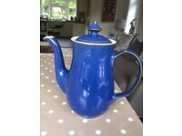 Denby Imperial Blue Coffee Pot (Brand New)