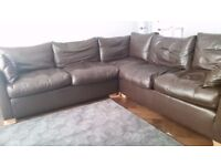 SOFA WORKSHOP Wallis brown leather corner sofa RRP 12 000 when new current model