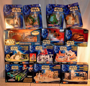 HUGE 30 Lot Star Wars EPISODE 1 Micro Machines Playsets Figures