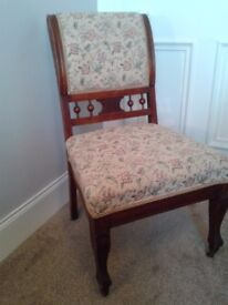 Vintage cherry side chair