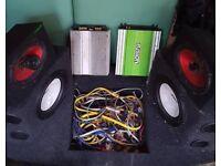 Car audio equipment set