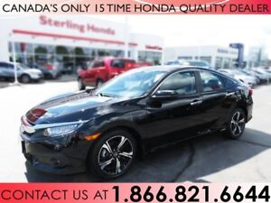 2017 Honda Civic TOURING TURBO, NO ACCIDENTS, 1 OWNER, NAVI !!