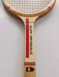 RARE VINTAGE WOOD TENNIS RACKET - DONNAY CLIFF DRYSDALE