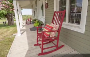 Oversized Porch Rocking Chair - solid wood