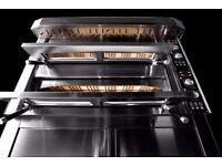 Brand New Fornitalia Black Line 3 Phase Stone Bake Pizza Oven 1.05m x 1.05m Chamber