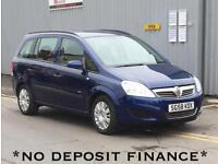 2008 VAUXHALL ZAFIRA 1.6i Life 5dr no deposit finance available