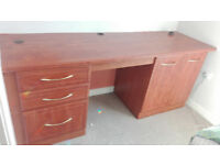 Desk with computer cupboard - FREE