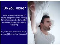 Snorers wanted for paid research