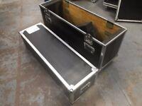 Selection of flight cases, rack mountable, wheels etc