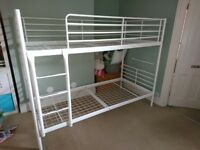 White metal IKEA bunk beds frame only